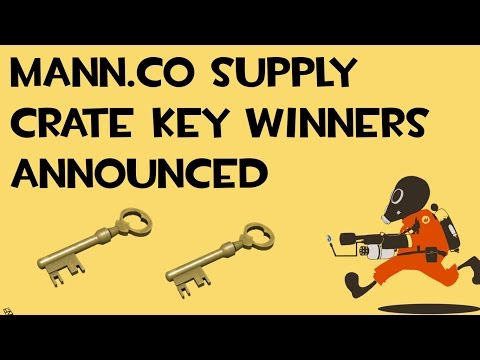 TF2 Mann Co Supply Key Giveaway Winners Announced!