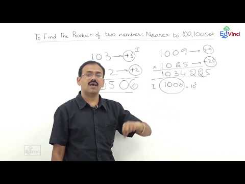 Fast Math Techniques - To find the product of two numbers nearing 100, 1000, 10000 case3