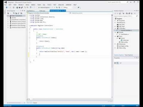Creating an ASP.NET MVC 4 Application