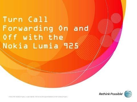 Nokia Lumia 925 : Turn Call Forwarding On and Off