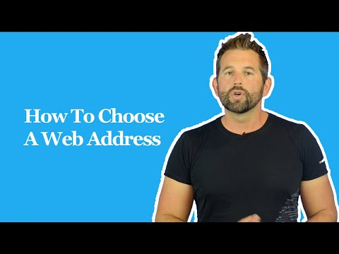 How To Choose A Web Address