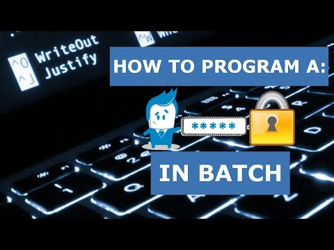 How to Program: A Strong Password Generator in Batch
