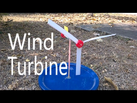 How to make a Toy Wind Turbine.(diy Wind Mill)