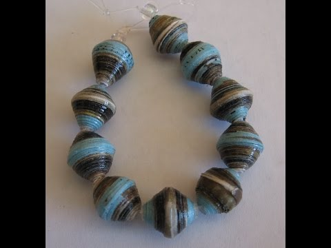 Making a bicone paper bead