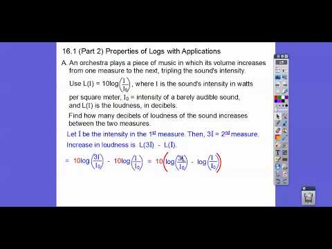 Properties of Logs with Applications - Module 16.1 (Part 2)