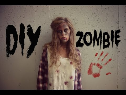 DIY ZOMBIE: Makeup, Hair, & Outfit!
