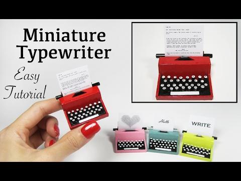 Miniature Vintage Typewriter Tutorial
