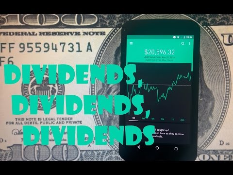 Robinhood APP - Monthly Dividend Stock Payments
