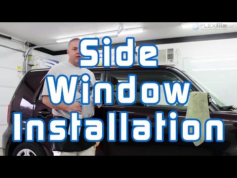Window Tinting: Side Window Installation (Two Stage Method)