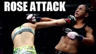 ROSE NAMAJUNAS ATTACK ! HIGHLIGHT UFC MMA