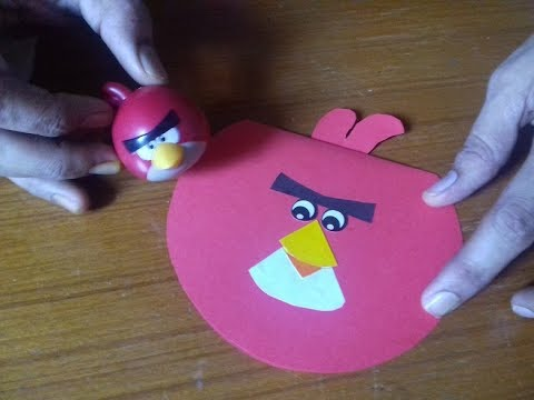 How to make:Red Angry Bird Card for kids