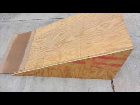How to build a skate ramp/kicker