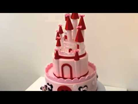 How to make cake Mini Mouse Castle Cake Covered in Fondant