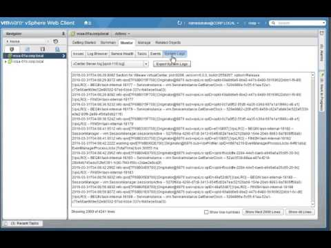Exporting System Logs from vCenter Server