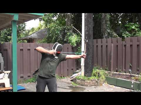 Shooting and Breaking a Red Oak Wooden Bow