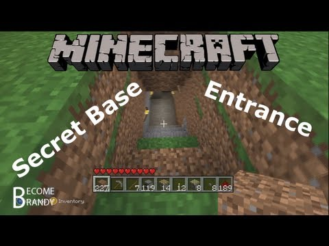How To Make a Secret Base Entrance in Minecraft! [Xbox]