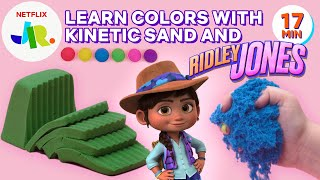 Learn Colors with Ridley Jones SUPER Satisfying Sand!   Netflix Jr