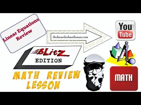 How to Graph Linear Equations -  Blitz Edition