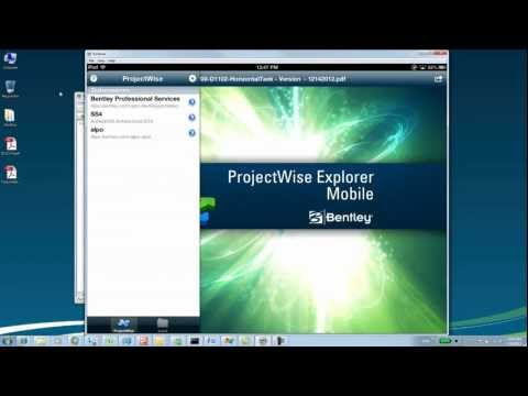 Edit ProjectWise PDF files with an iPAD