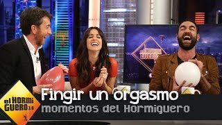 Macarena García y Jon Plazaola fingen un orgasmo al más puro 'estilo Hormiguero' - El Hormiguero 3.0