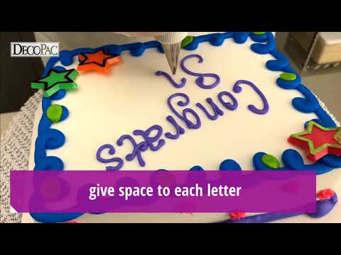 Decorating Tip: Writing in Print on a Cake