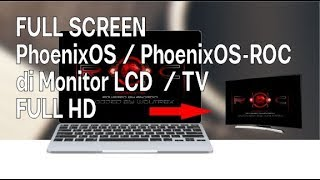 Phoenix OS Official & ROC Glitched , Distorted , Scratched Screen