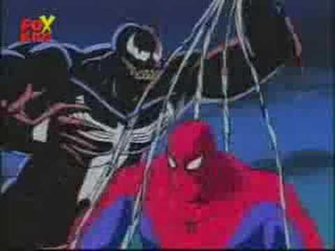 spiderman cartoon intro venom style
