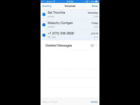 Unable to Delete Voicemail Messages - iPhone6Plus