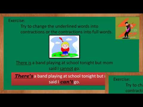 english grammar : contraction