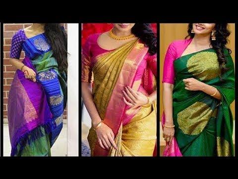 Latest Light Weight Silk Saree Designs - She Fashion