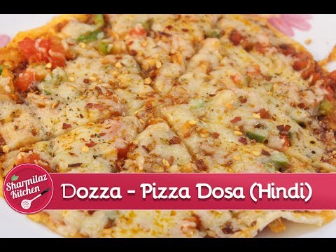Dozza | Cheese Burst Pizza Dosa (With English Subtitle)- घर पे 5 मिनट में बनाइये पिज़्ज़ा डोसा |