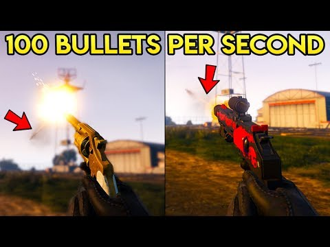 GTA Online DID YOU KNOW? - How to Shoot 100 Bullets in 1 Second