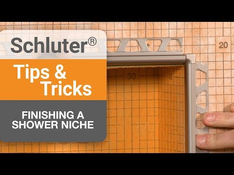Tips on finishing a shower niche