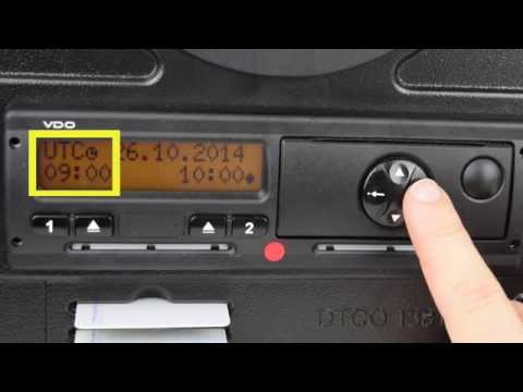 How To Change Time on a Digital Tachograph - Stoneridge and Siemens VDO