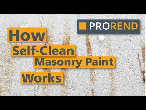 How Self-Clean Masonry paint works