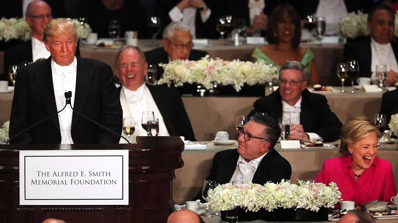 Clinton and Trump roast each other at charity dinner