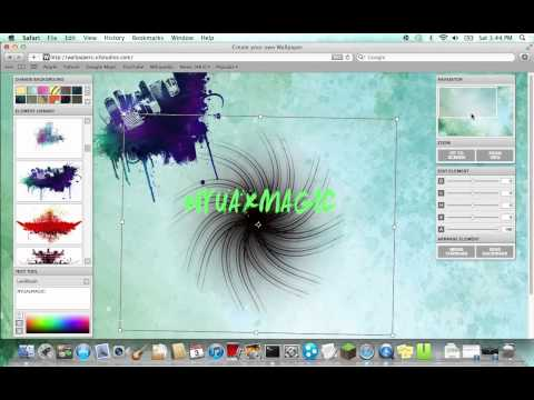 how to make your own desktop picture [mac]