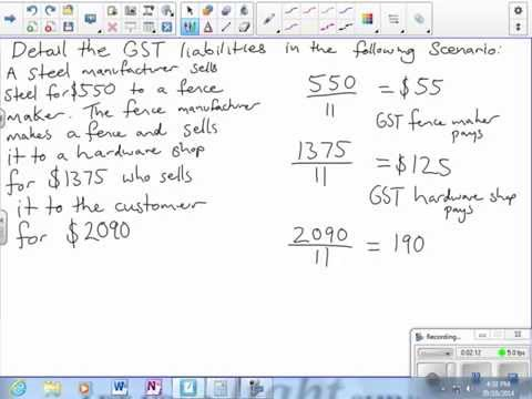 Calculating GST liabilities