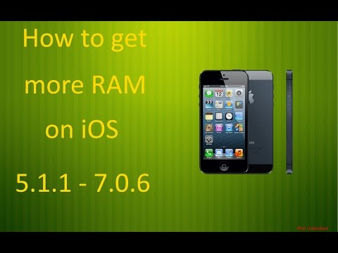 How to get more RAM on iOS 5.1.1 - 7.0.6