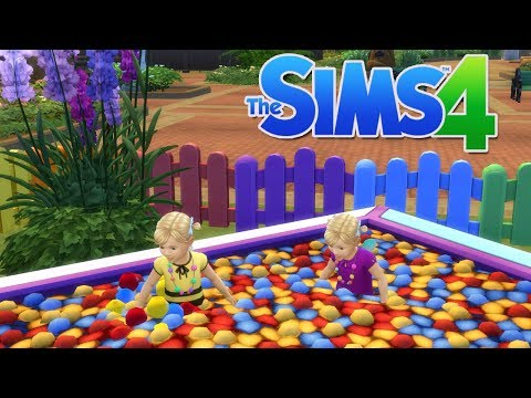 The Sims 4: My Family Life With Twins (Part 3) Rainbow Toddler Park