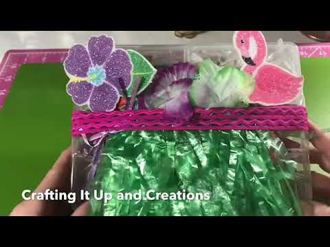 *closed* Giveaway DIY Dollar Tree Embellishment Box- Tropical Theme 🌺