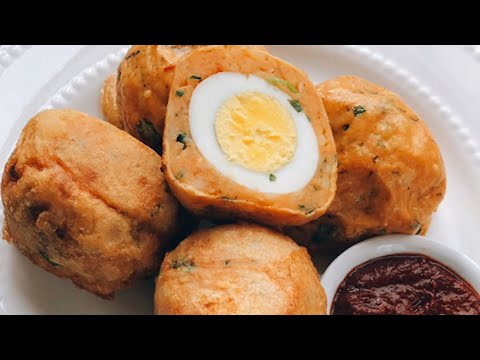 Super Easy Egg Filled Potato Croquettes in Gujarati with Raihana's Cuisines