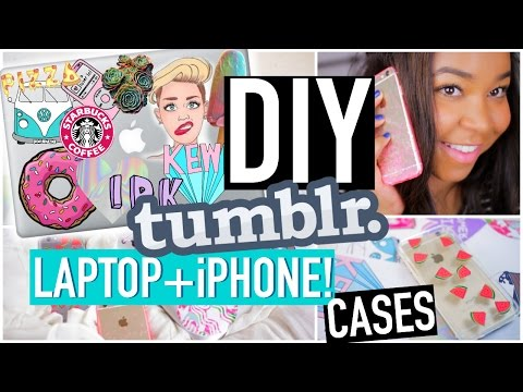DIY Tumblr inspired iPhone Cases+Tumblr Laptop!