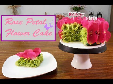 Rose Petal Flower Cake