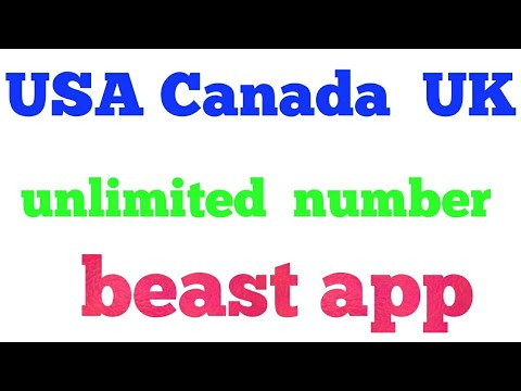 USA  Canada  uk unlimited number  bast app