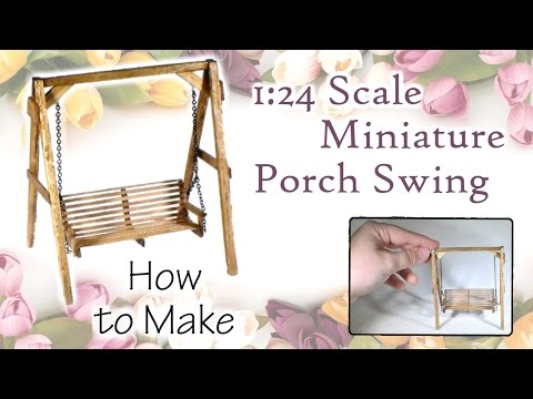 Miniature Porch Swing Tutorial (actually works!) | Dollhouse | How to Make 1:24 Scale DIY