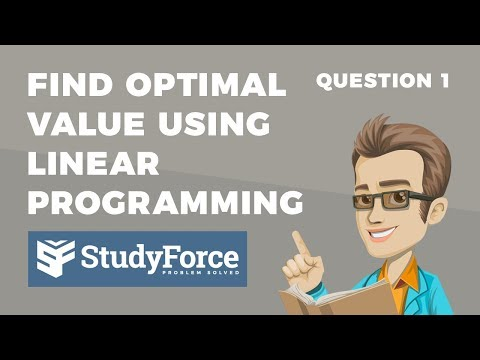 📚 How to find the optimal value using linear programming (Question 1)