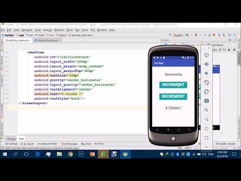 Increment Decrement App | Android App Development video #03