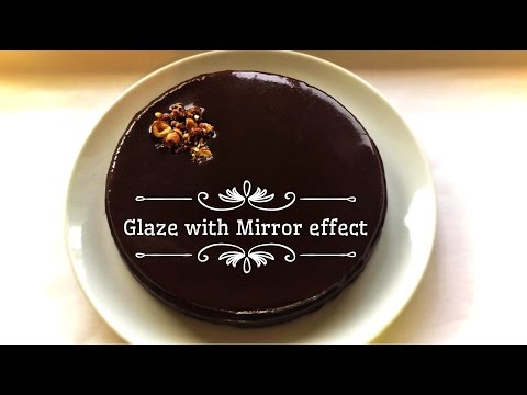 Chocolate Icing / glaze with a Mirror Effect (recipe and method) - very easy