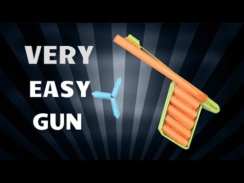 How to Make a Easy Paper Pocket Gun that Shoots Paper Bullets | Very Simple Tutorials